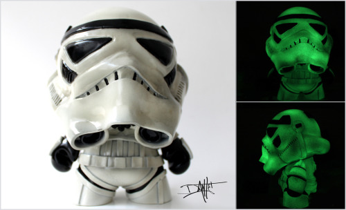 "Custom ""Glowtrooper"" Munny - by Dante Herrera Full Glowtrooper Gallery Here"