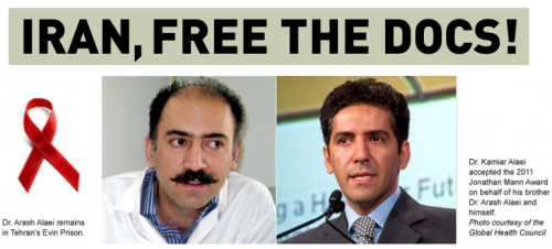 standwithfreeiran:  Tuesday, 19 July 2011, marks a Global Day of Action during which health professionals, scientists, and concerned citizens from around the world appeal to the Iranian authorities for the immediate and unconditional release of Dr. Arash Alaei. Dr. Arash Alaei and his brother Dr. Kamiar Alaei are renowned HIV/AIDS physicians who were arrested in June 2008 and wrongfully convicted in January 2009 on charges of communicating with an enemy government. Their crime? Traveling to international AIDS and public health conferences and liaising with other health workers to find solutions to the HIV/AIDS pandemic. In late 2010, Kamiar was released following 870 days in prison in Iran. Arash was sentenced to six years in prison and today remains behind bars in Evin Prison in Tehran after three long years. Dr. Arash Alaei has worked tirelessly to address HIV/AIDS, tuberculosis, and addiction, and demonstrated unwavering dedication to helping improve the lives of his countrymen and women by protecting them from disease and death. He needs to be immediately released to again take up his life-saving work. Your message will be delivered to the Supreme Leader of Iran, Ayatollah Sayed Ali Khamenei, and other Iranian officials, urging the Iranian authorities to unconditionally release Dr. Arash Alaei. SIGN THE PETITION