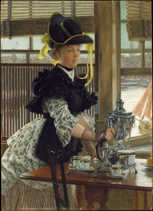 toanunnery: 1872 James Tissot (French, 1836-1902) ~ Tea