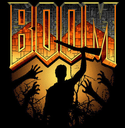 gamefreaksnz:  This Is My Boomstick! Evil Dead and Doom collide in the coolest t-shirt you've ever seen… this week. Restocked Medium & Large. On Sale for $18.99