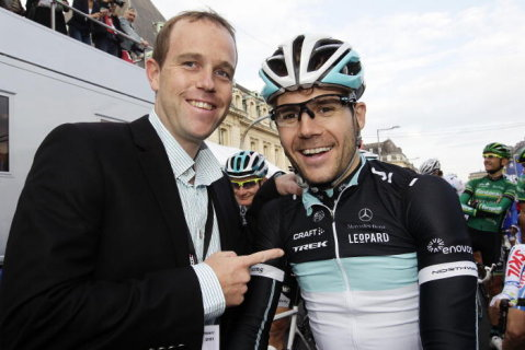 Gala Tour de France Kim Kirchen and Maxime Monfort.  We miss you, Kim! (via wort.lu | Photo Galleries | Gala Tour de France)