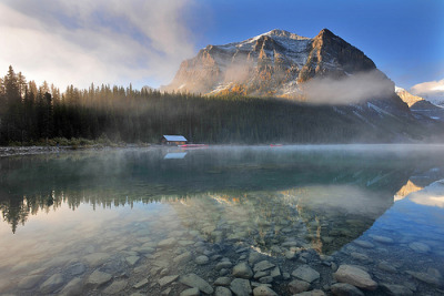 landscapes-and-travel-dreams:  Misty Mountain Morning (by Surreal McCoy (Alvin Brown))