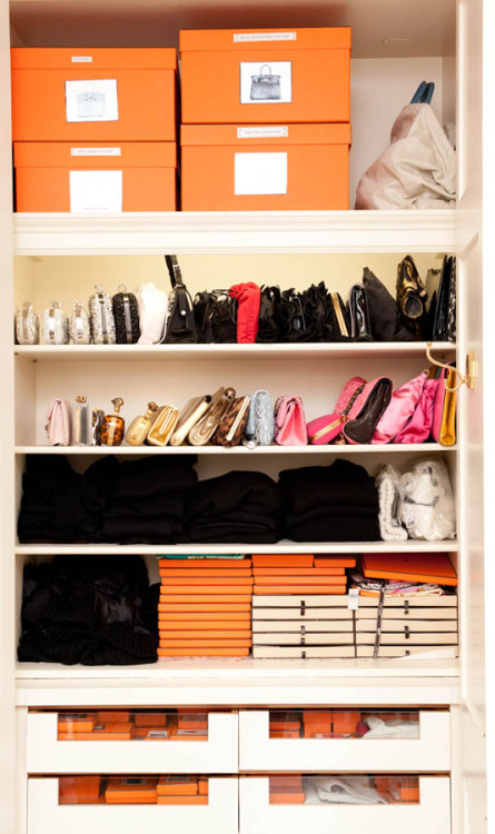 (via Everything Fabulous: Closet Inspiration: Real People, Real Closets {Accessories})