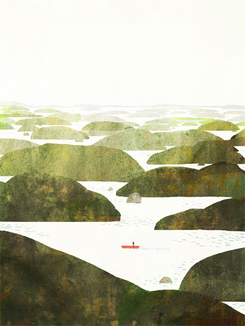 jonklassen:  for a special occasion.  A world of many green islands