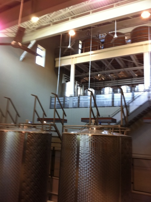 Gravity fed system at Tawse Winery.