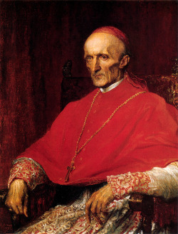 "George Frederick Watts (1817-1904)Cardinal ManningOil on canvas188269.9 x 90.2 cm(27.52"" x 35.51"")National Portrait Gallery (London, United Kingdom)"