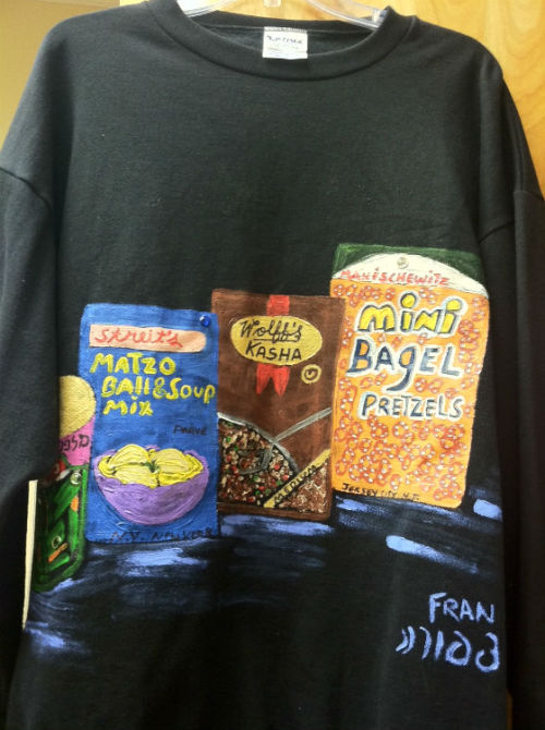 Hand Painted Jewish Food Sweatshirt