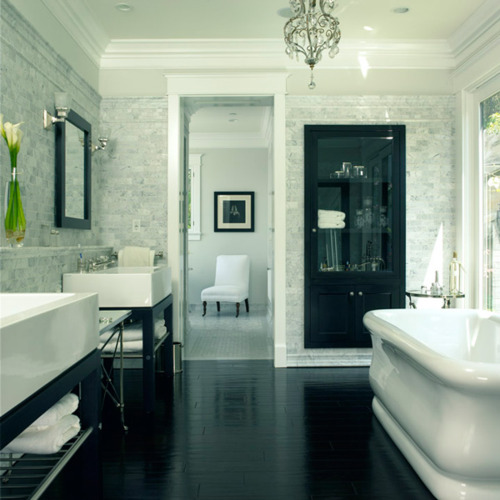 So I could totally live in this bathroom…it's just too pretty to not be appreciated