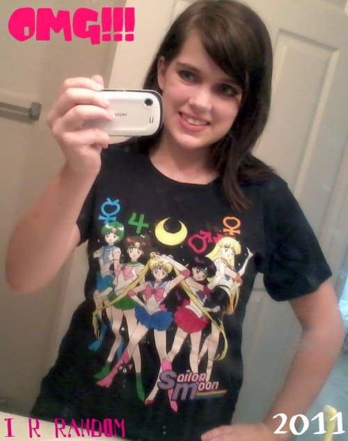 OMG OMG!! I found this shirt at Hot Topic…I NEEDED IT!! XD So my mom bought it for me. I'm so happy. I reversed the picture so you could see the shirt properly, since I took the picture through a mirror. I'm totally wearing this to the first day of school. ;D