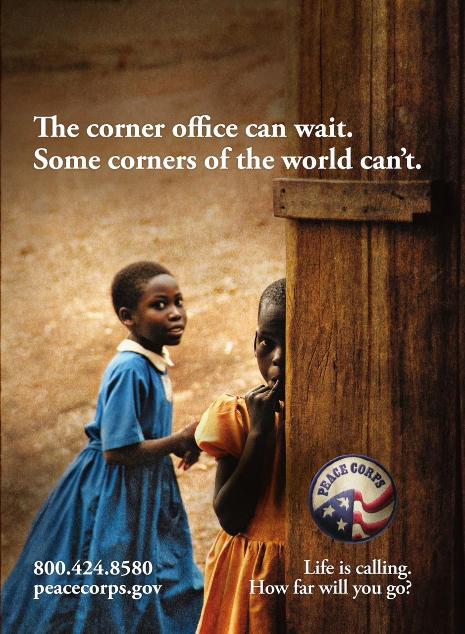 My thoughts exactly. peacecorps:  Peace Corps Public Service Announcement - 2006