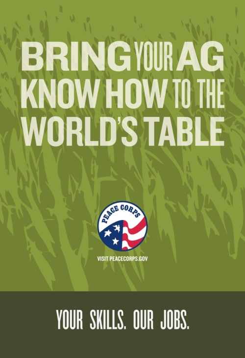 Peace Corps out-of-home advertisement recruiting agriculture Volunteers - 2009