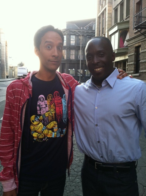 Danny Pudi and Michael K Williams on the set of Community. Williams will guest on the upcoming season. chrismohney:  negevrockcity: Waiting for the episode where McNulty and Chevy Chase face off… wallofdis:  yrcrazyman:  my new favorite picture  I'm not sure in what universe Abed and Omar would know each other, BUT I WANT TO LIVE THERE.   Abed comin