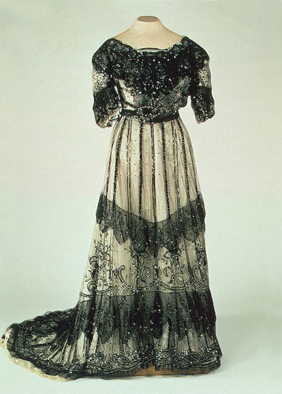 Evening dress worn by Alexandra Feodorovna, 1900's Russia