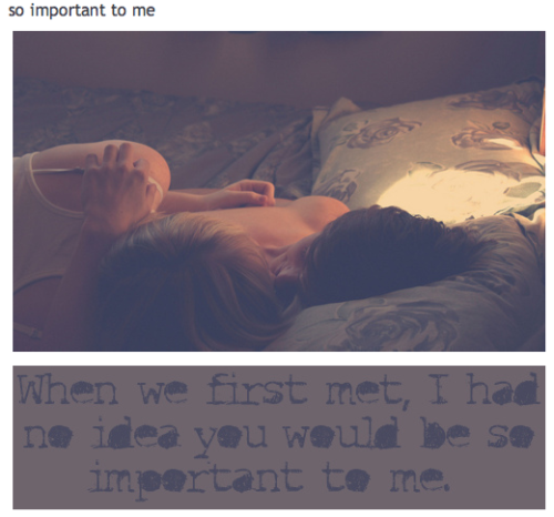 getinspiredbylelove:  When We First Met