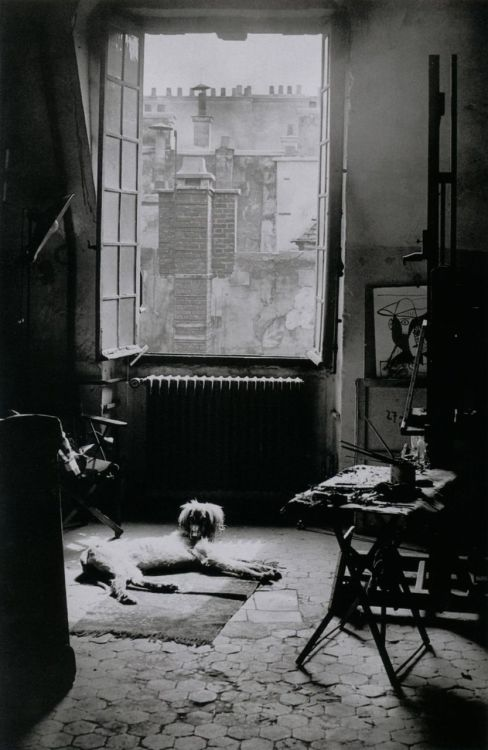 liquidnight:  Brassaï L'Atelier de Picasso  [Picasso's Studio] Rue des Grands-Augustins, Paris 6e, May 9, 1944 From Brassaï, Paris