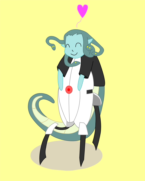 Awesomely cute Portal/Medusa art by Quiet Lamp.