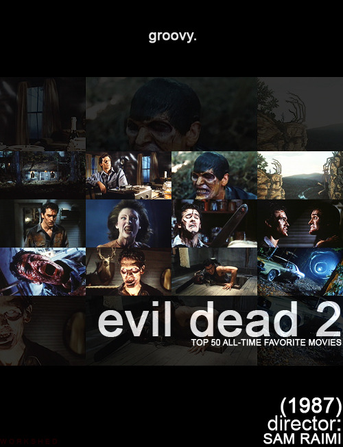 workshed:   Top 50 All-Time Favorite Movies- No Order   27/50- Evil Dead 2 (1987)