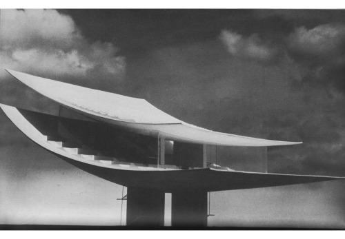 betonbabe:  ARNE JACOBSEN  BELLA VISTA / DESIGN FOR AN OBSERVATION TRIBUNE AND RESTAURANT, 1964