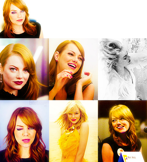 50 Fabulous Faces (In no particular order) → Emma Stone.