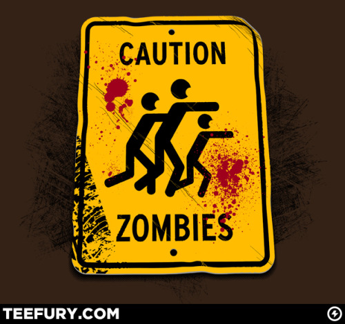 laughingsquid:  Caution Zombies by Chris McVeigh