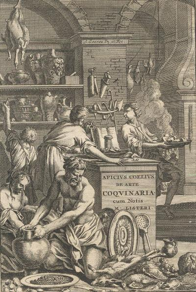 1709 frontispiece of Apicius: De re coquinaria