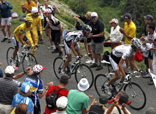 Andy, Fränk and Alberto Contador. Tour de France 2009.