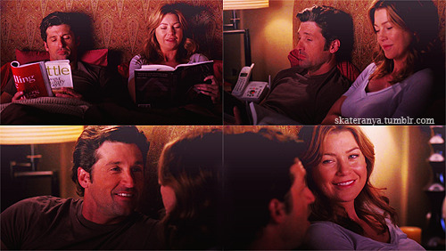 DEREK: Tell me the stories.MEREDITH: What stories?DEREK: The ones you won't let Sadie tell me.MEREDITH: They're ancient history. Humiliating and ridiculous.DEREK: Ridiculous is a grown man telling another grown man to stay out of a woman's little…MEREDITH: You did it?DEREK: l did. Those exact words. l did it because…it was nice to see you sticking up for your sister. l did it for you. So now, you owe me…a story.MEREDITH: OK, fine. But you can never tell anyone ever.  5x08 These Ties That Bind