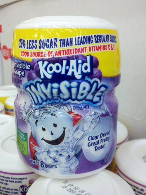 laughingsquid:  Kool-Aid Invisible at Grocery Outlet