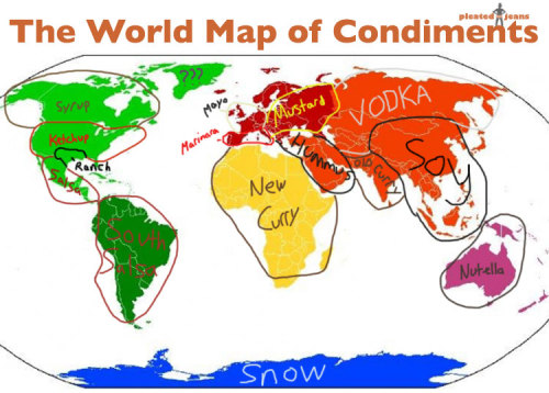 Wait, snow is a condiment? >:{(& I thought vodka was a meal….)