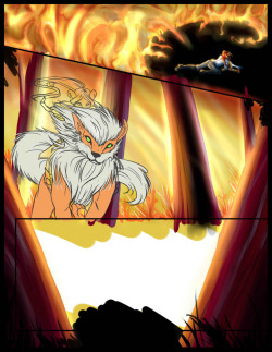 Comic page in progress … for the pokepalace event. @ panels of 4 done