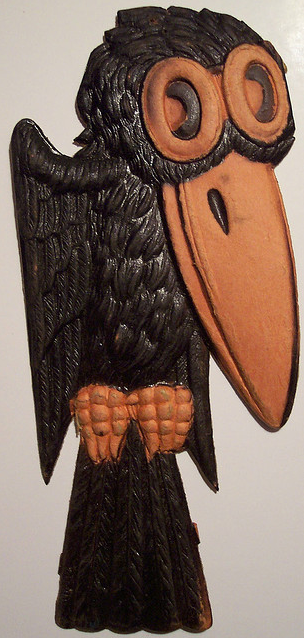 German diecut crow.  http://www.flickr.com/photos/vintagehalloweencollector/
