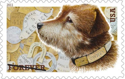usagov:  Image description: The recently issued Owney Forever stamp, now available at the Post Office, depicts the stray dog who was the unofficial mascot to the U.S. Railway Mail Service in the late 19th century.  For nine years, Owney road the rails on mail trains from state to state, logging over 140,000 miles during his lifelong journey. To learn more about Owney and enter your dog in an Owney-lookalike contest, visit the U.S. Postal Museum.