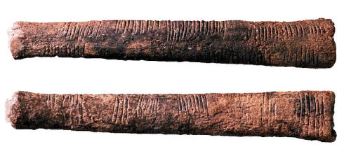 The Ishango Bone. The grooves on the handle of this 20,000 year old tool have been theorized to indicate paleolithic knowledge of complex mathematical concepts, or it could just be for easier grip. Either way its a work of genius.