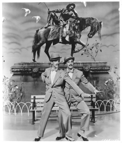 Thus lastly we have Ziegfeld Follies!  Gene danced with the great Fred Astaire in this movie, and they seemed to balance out each others styles. :)  And that concludes the birthday spam for always-fair-weather! I really hoped you enjoyed it, as we well as other Gene Kelly fans.