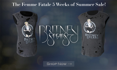 Been a Britney fan since the beginning? Show it off with the retro Baby One More Time tee on sale in this final week of B's summer sale — visit Brit's Pop-Up Shop now »
