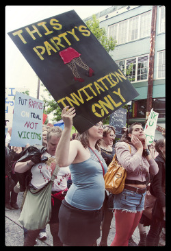 Pacific NW in the house. honeyandtoska:  Slut Walk Seattle 2011 by whydobirds on Flickr.