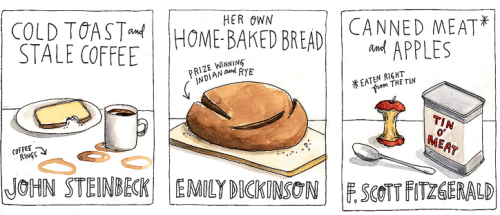 The favorite snacks of famous authors