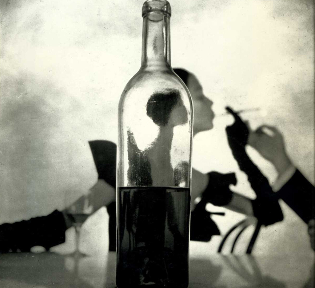 Girl Behind Bottle (1949). Irving Penn.