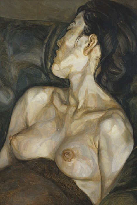 elvira:  Captured for eternity: Pregnant Girl, 1960-61 by Lucian Freud is of Bernandine Coverley, Bella's mother (via Bella Freud reveals her mother died three days after her artist legend father Lucian | Mail Online)