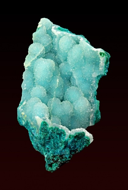 Quartz on Chrysocolla from Arizona