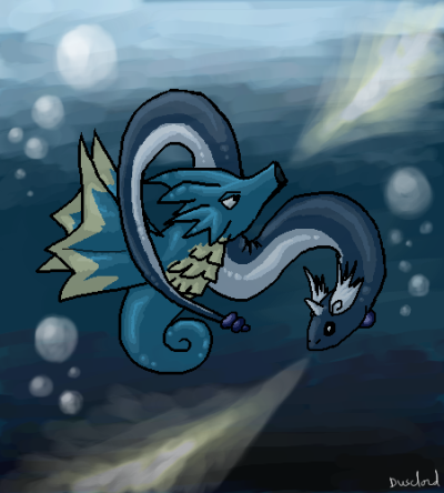 Seadra and Dragonair :D
