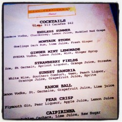 our favorite summertime drinks all on one menu. how to choose? (Taken with instagram)