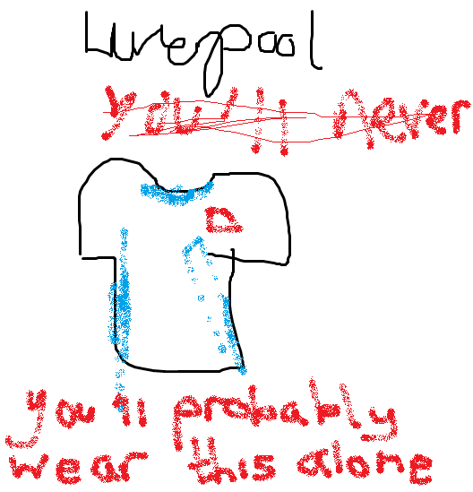 Liverpool's new kit, you disgraceful scum. More here. You'll probably die alone.