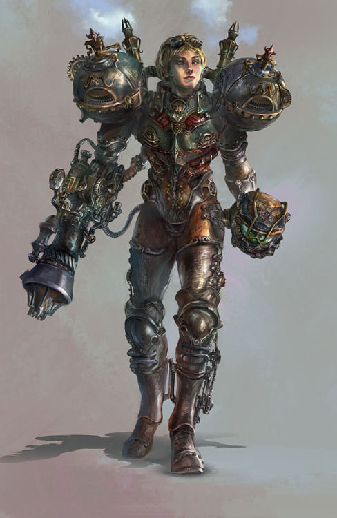 clockworkthinking:  steampunk samus! awesome!!