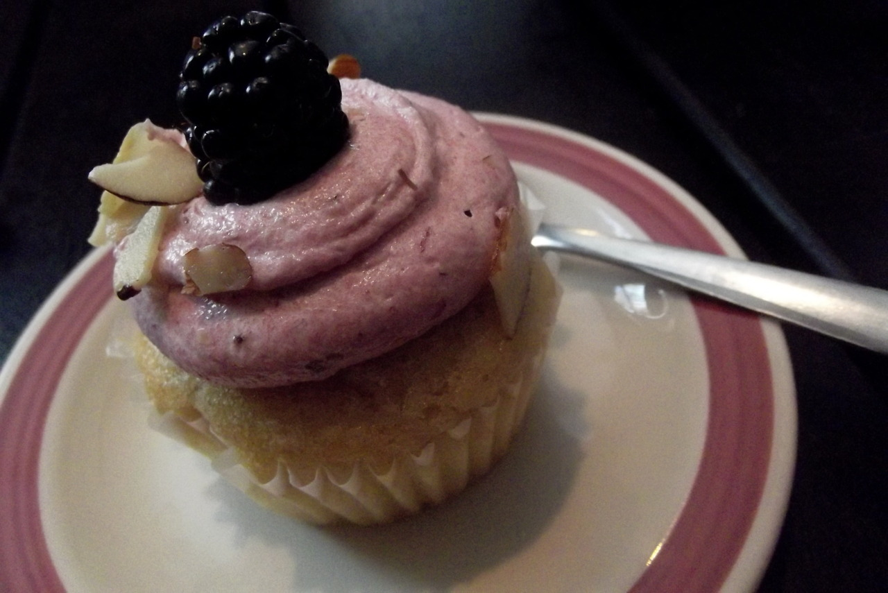 Blackberry Almond Cupcake