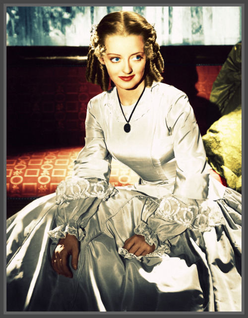 "My colorization. Bette Davis in ""The Old Maid."""