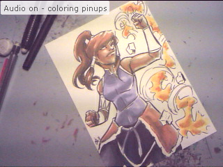 Trying out Livestream, and coloring pinups. Stop by and say Hi! http://www.livestream.com/virtualcara *Edit*  Tonight's cast has concluded, thanks for stopping by!