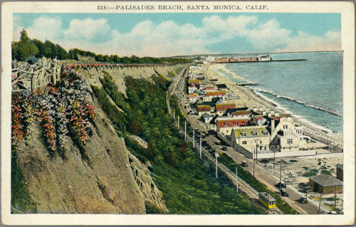 Vintage Postcard: Palisades along the Santa Monica coast circa 1931