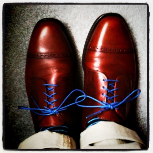 Shoes: Allen Edmonds Laces: Benjo's