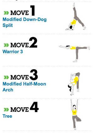 """Pick-Me-Up"" Yoga via Women's Health Mag. These poses boost energy and is a healthier alternative to a power nap."
